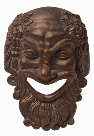Greek traditional ceramic mask frontal