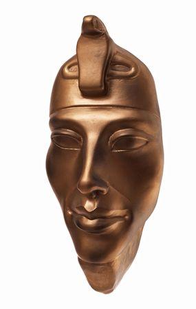 Pharaoh Amenhotep traditional ceramic mask three-quarters