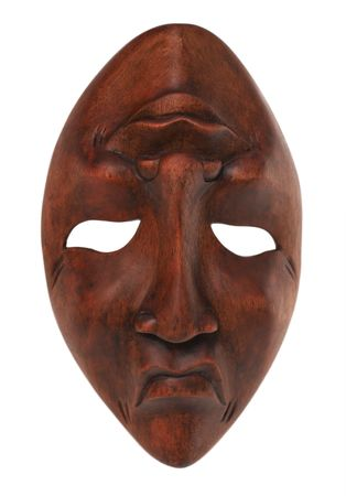 Greek traditional olive wood mask