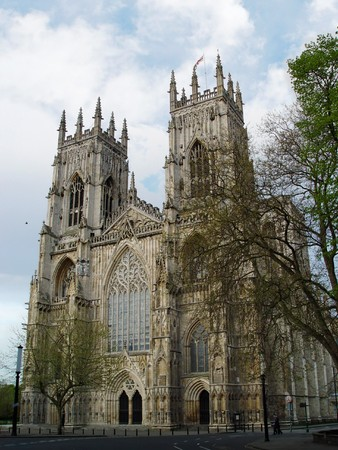 A view of York Minster in a cloudy day. largest gothic cathedral in Northern Europe. Yorkshire, England, UK Stock Photo