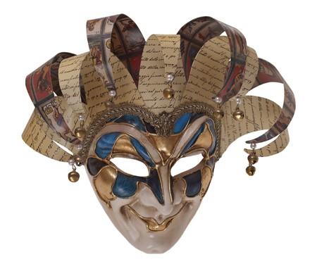 arlecchino: Maschera tradizionale italiano di tre quarti di Arlecchino. Venezia