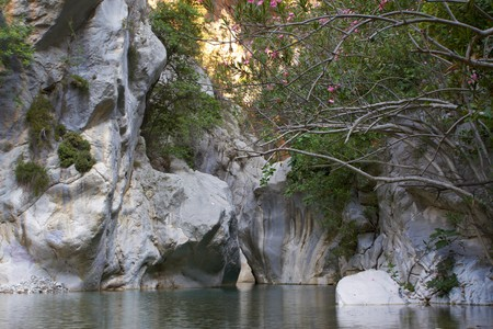 murmur: Mountains clear river in  green canyon. Chemuva, Turkey Stock Photo