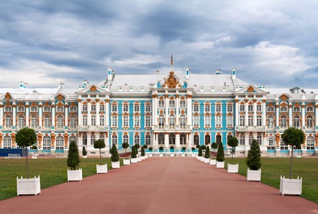 st petersburg: The Catherine Palace In Tsarskoye Selo, Russia