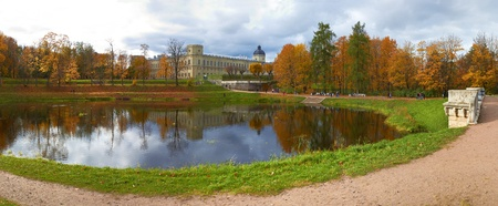 Autumn Gatchina Palace and pond. St.Petersburg photo