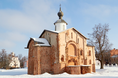 veliky: View of old church in Veliky Novgorod, Russia. Stock Photo