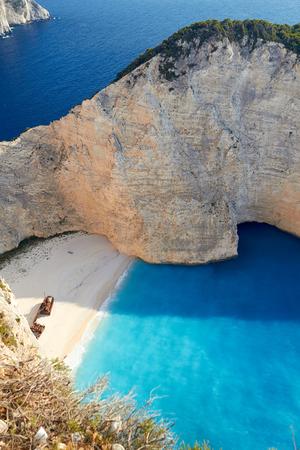 Bay of Shipwrech at Navagio beach, Zakinthos, Greece