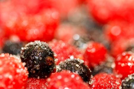 Berries and sugar.