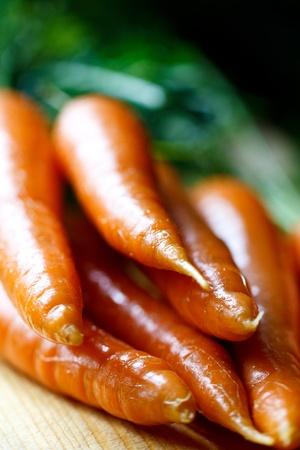 fresh carrots Standard-Bild