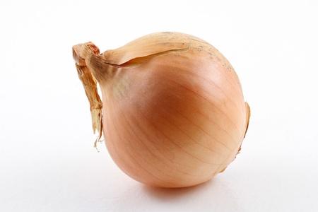 Single onion on white