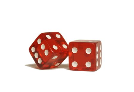 Two red dice Stock Photo - 6570838