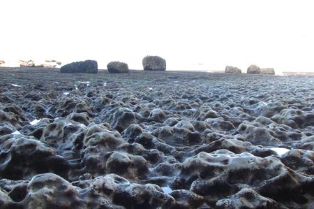 French Coast Line Stone beach sea view