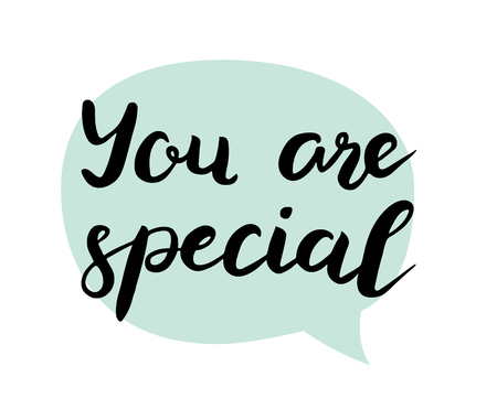You are special text. Brush calligraphy. Vector isolated illustration Stock Photo