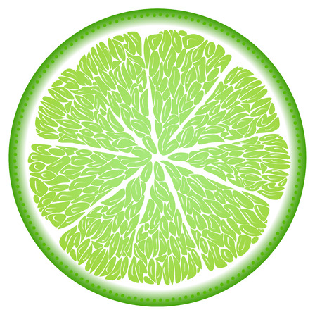 cut up: Lime in the cut close up Illustration