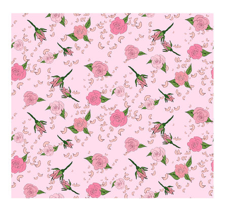 victorian wallpaper: Seamless floral background with bouquets of roses