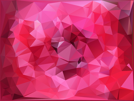Pink polygonal illustration design.