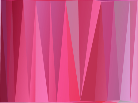 Pink polygonal illustration, which consist of triangles. Geometric background in Origami style with gradient. Ilustração