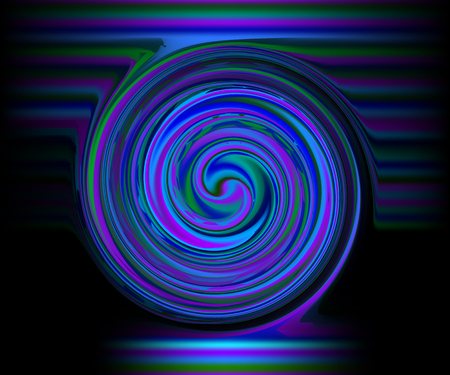 Abstract black neon background with vertical pink, purple stripes Illustration