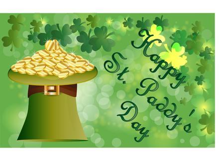 Happy St. Patricks Day banner. Illustration