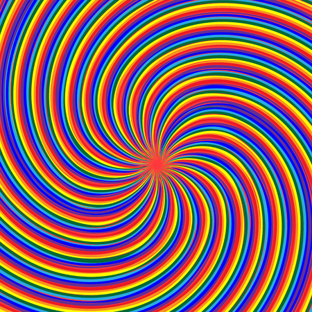 Optical illusion, a maelstrom of the rainbow.