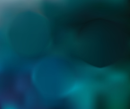 Abstract green and blue blurred gradient background with light. Nature backdrop. Vector illustration. Ecology concept for your graphic design, banner or poster
