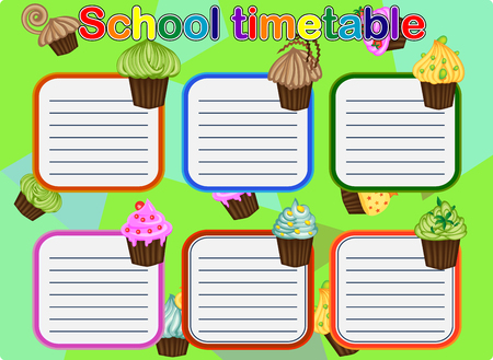 School Timetable, a weekly curriculum design template, scalable graphic