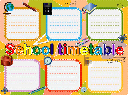 background frame design of School Timetable, Schedule,Weekly school timetable