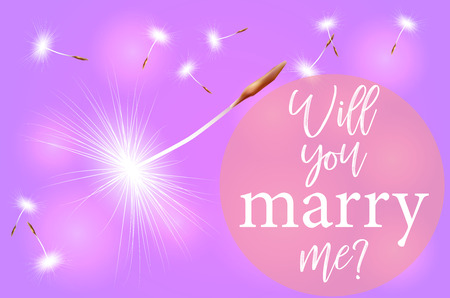 Valentine pink background with the inscription will You marry me