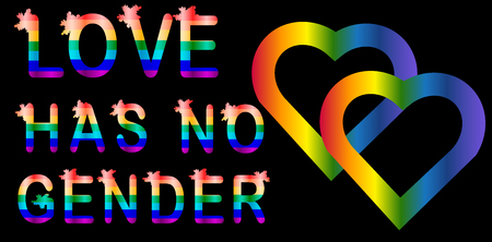love has no gender rainbow lettering letters lgtb concept royalty