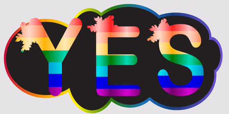 Yes - inscription in rainbow letters, lgtb concept
