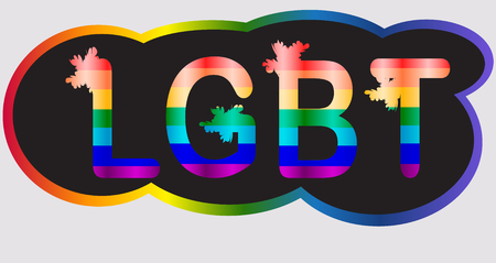 LGBT - inscription in rainbow letters, lgtb concept