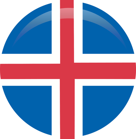 Iceland flag, official colors and proportion correctly. National Iceland flag. Flat