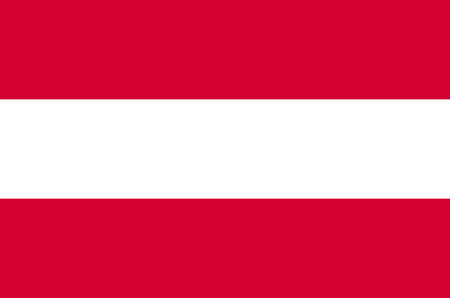 Austria flag, official colors and proportion correctly. National Austria flag. Archivio Fotografico - 112287017