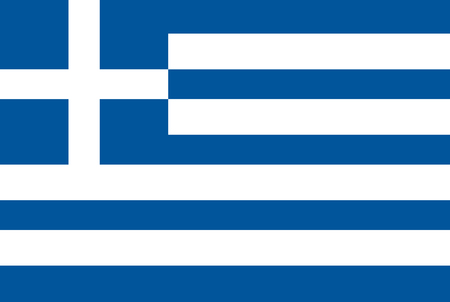 Greece flag, official colors and proportion correctly. National Greece flag. Flat