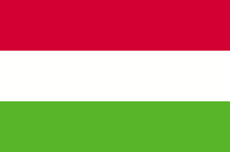 Hungary flag, official colors and proportion correctly. National Flag of Hungary.