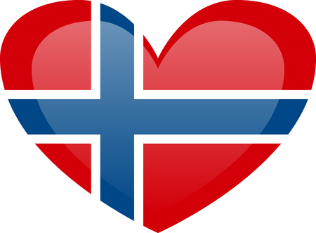 Norway flag, official colors and proportion correctly. National Norway flag.
