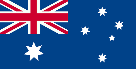 Australia flag, official colors and proportion correctly. National Australia flag.