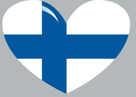 Finland flag, official colors and proportion correctly. National Finland flag. Flat