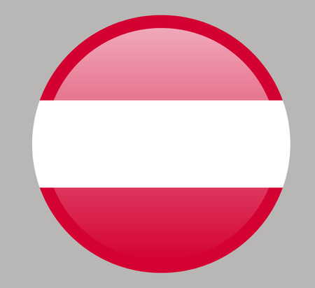 Austria flag, official colors and proportion correctly. National Austria flag. Vetores