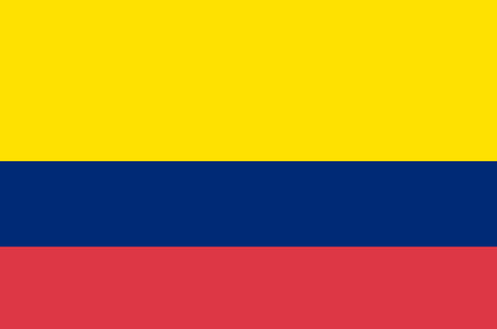 Flag of Colombia. Accurate dimensions, elements proportions and colors.