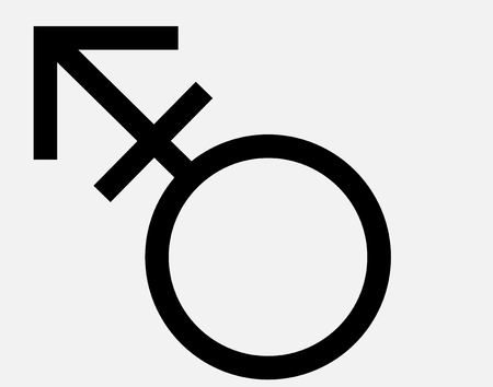 Transgender Symbol Thin Line Vector Icon. Flat Icon Isolated on the White Background Vecteurs