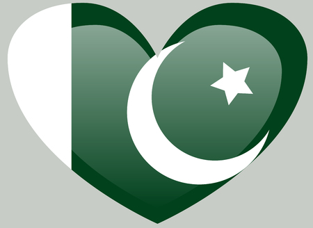 Pakistan flag, official colors and proportion correctly. National Pakistan flag.