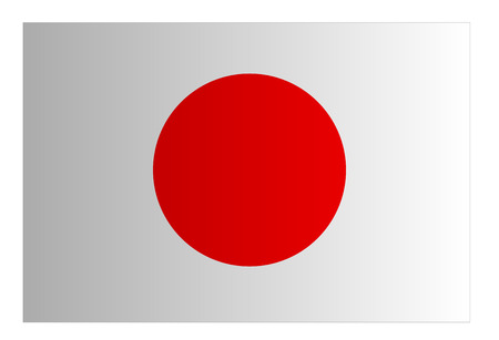 Japan flag. Japanese. Japan sun flag background.