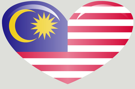 original and simple Malaysia flag isolated in official colors