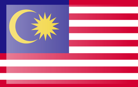 original and simple Malaysia flag isolated in official colors and Proportion