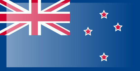 New Zealand flag, official colors and proportion correctly. National New Zealand flag.
