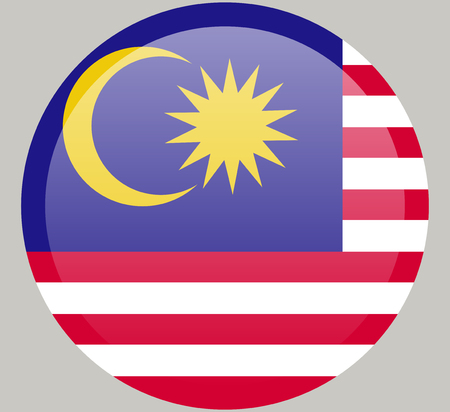 original and simple Malaysia flag isolated in official colors and Proportion Correctly Illustration