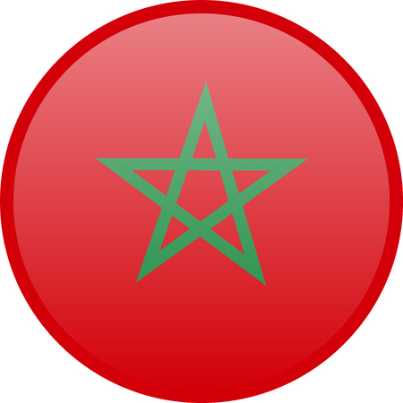 Simple flag of Morocco. Moroccan flag. Correct size, proportion, colors