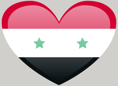 National flag of Syria with correct proportions and color scheme