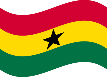original and simple Ghana flag in official colors and Proportion Correctly