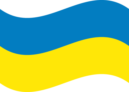 Ukraine flag, official colors and proportion correctly. National Ukraine flag. Flat Zdjęcie Seryjne - 125339166